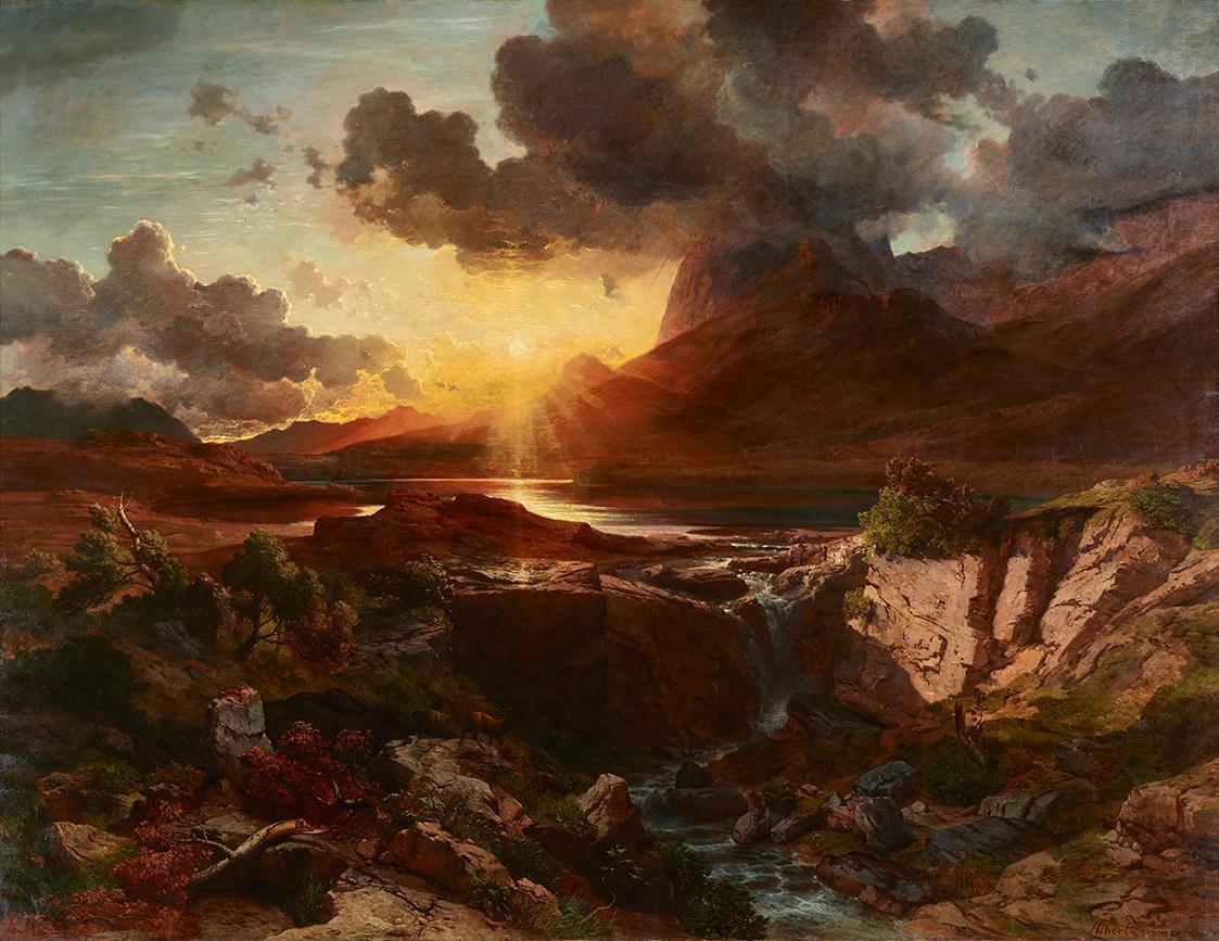 Sonnenuntergang am Hintersee in Berchtesgaden von Albert Zimmermann