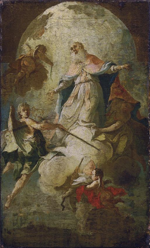 Himmelfahrt des heiligen Erasmus von Unbekannter Künstler