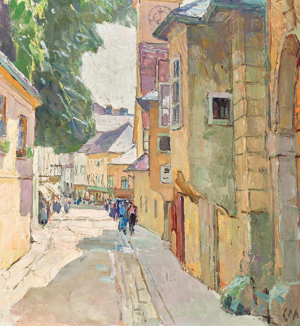 Die Dr. Seipel-Straße in Mödling von Carl Moll