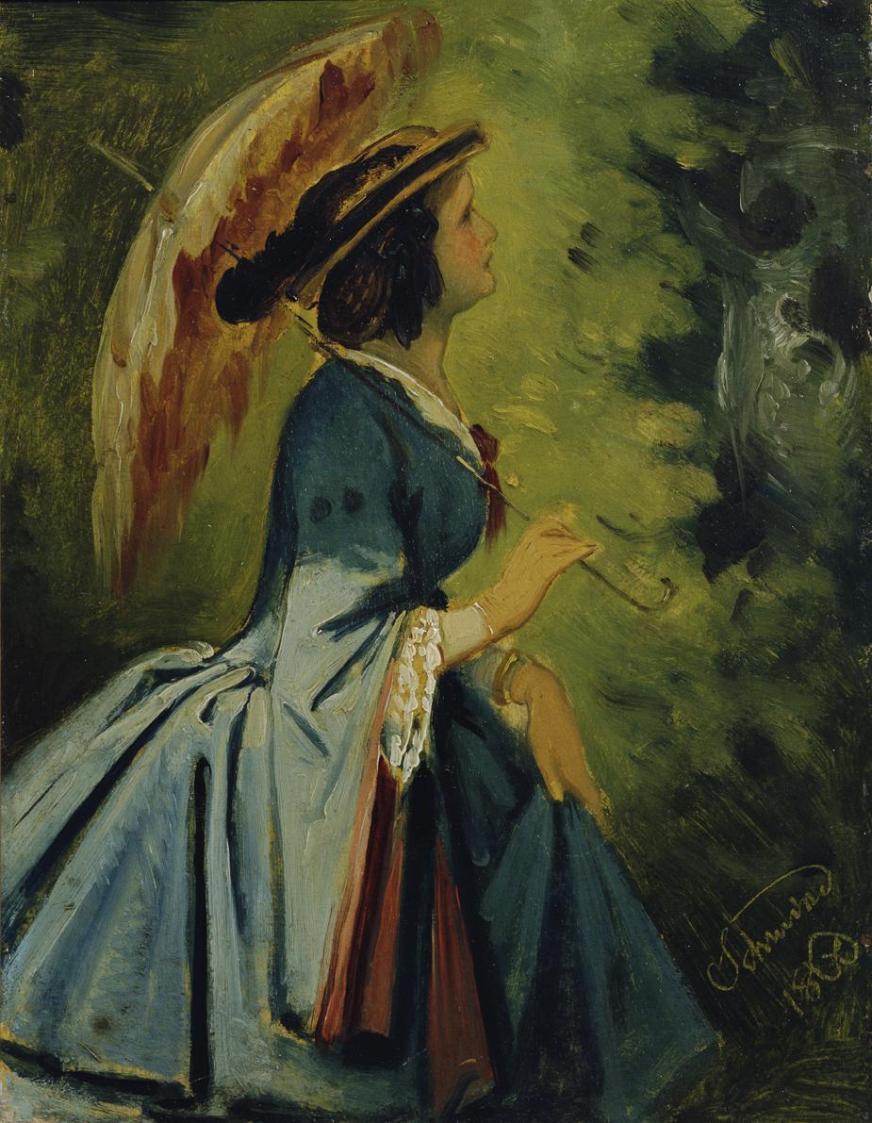 Anna Schwind, die Tochter des Künstlers von Moritz von Schwind