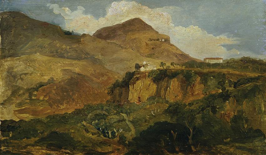Südliche Berglandschaft von Carl Rahl