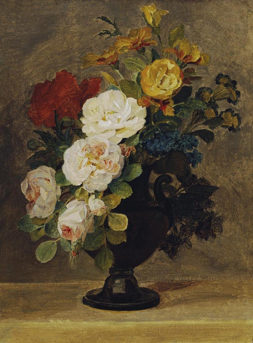 Blumenstrauß in antiker Vase von Pauline Koudelka-Schmerling