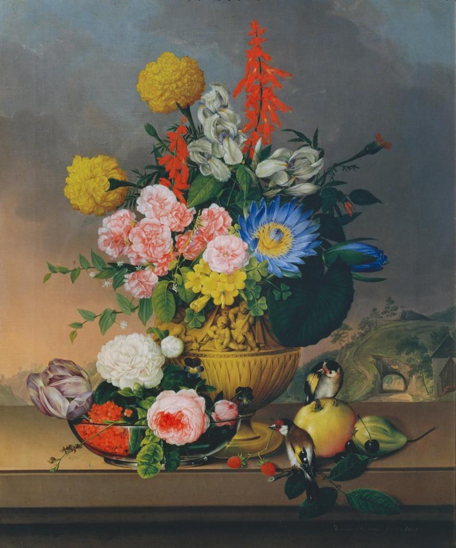 Stillleben mit Blumenstrauß von Johann Knapp