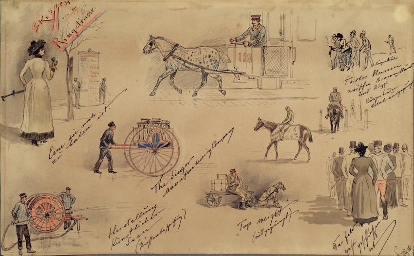 Wiener Typen 1883 (Skizzen von der Ringstraße)