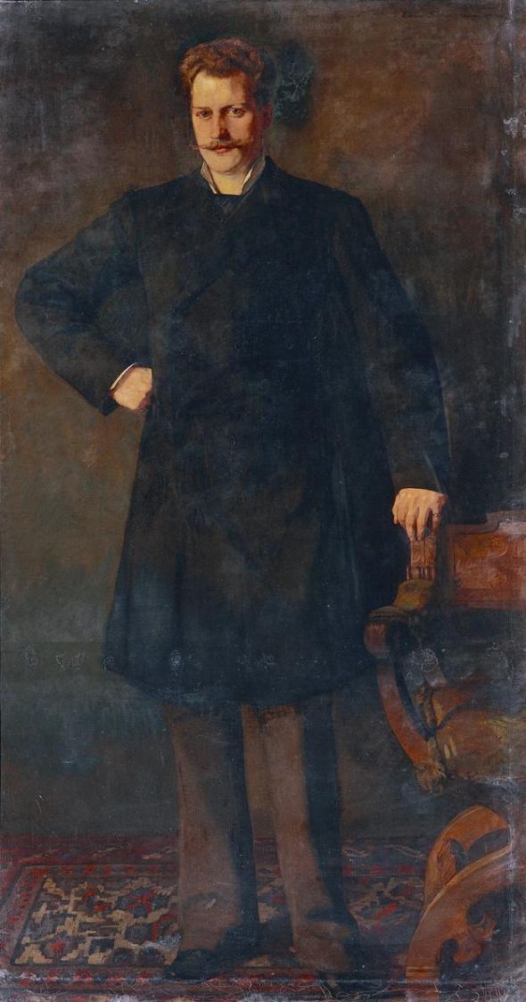 Der Kammersänger Theodor Reichmann von Wilhelm Trübner