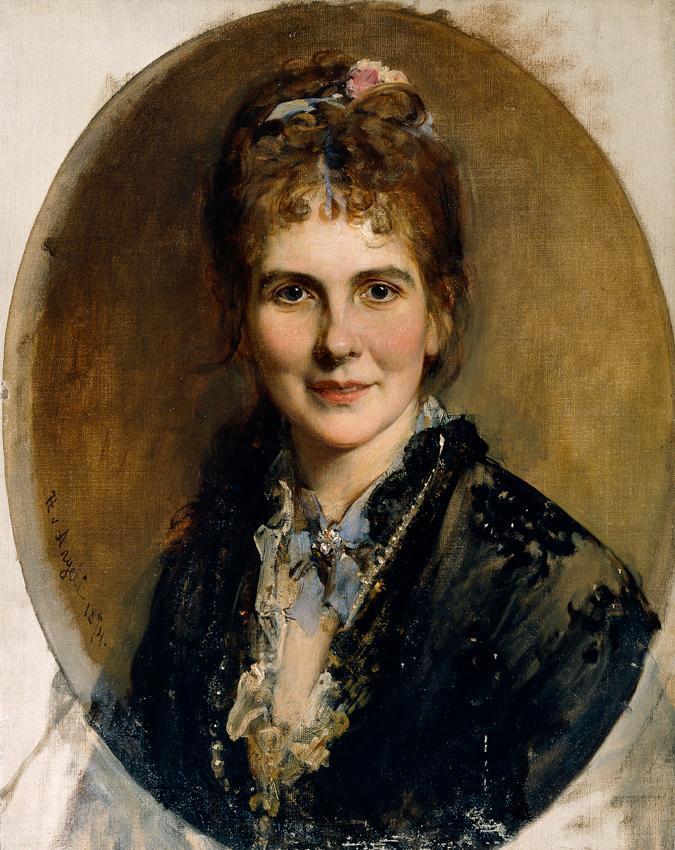 Brustbild einer jungen Frau von Heinrich von Angeli