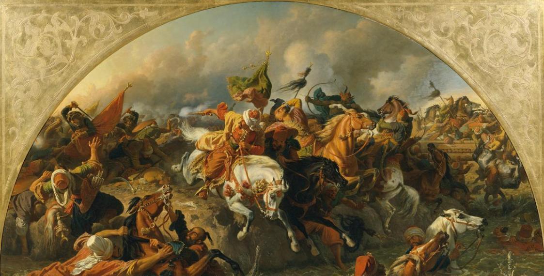 Die Schlacht bei Zenta 1697 von Karl von Blaas