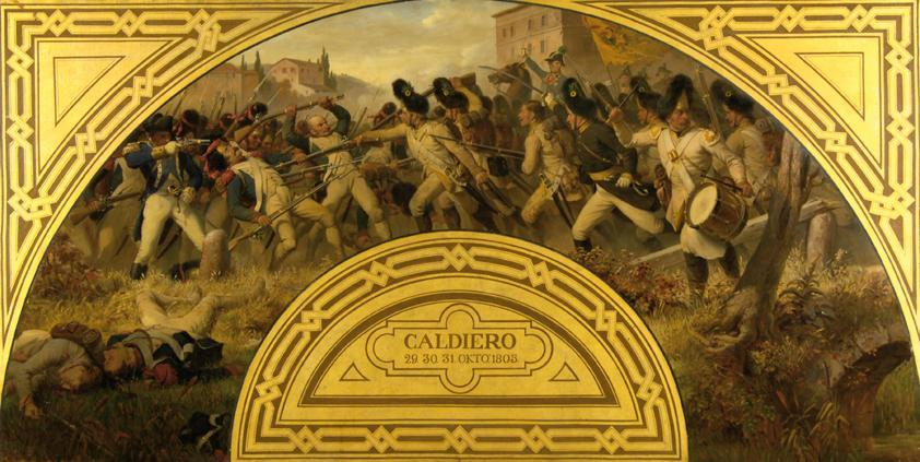 Die Schlacht bei Caldiero 1805 von Karl von Blaas