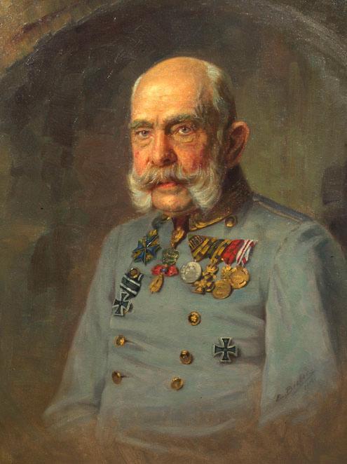 Kaiser Franz Joseph I. in der Dienstuniform eines österreichischen Feldmarschalls von E. Bieber