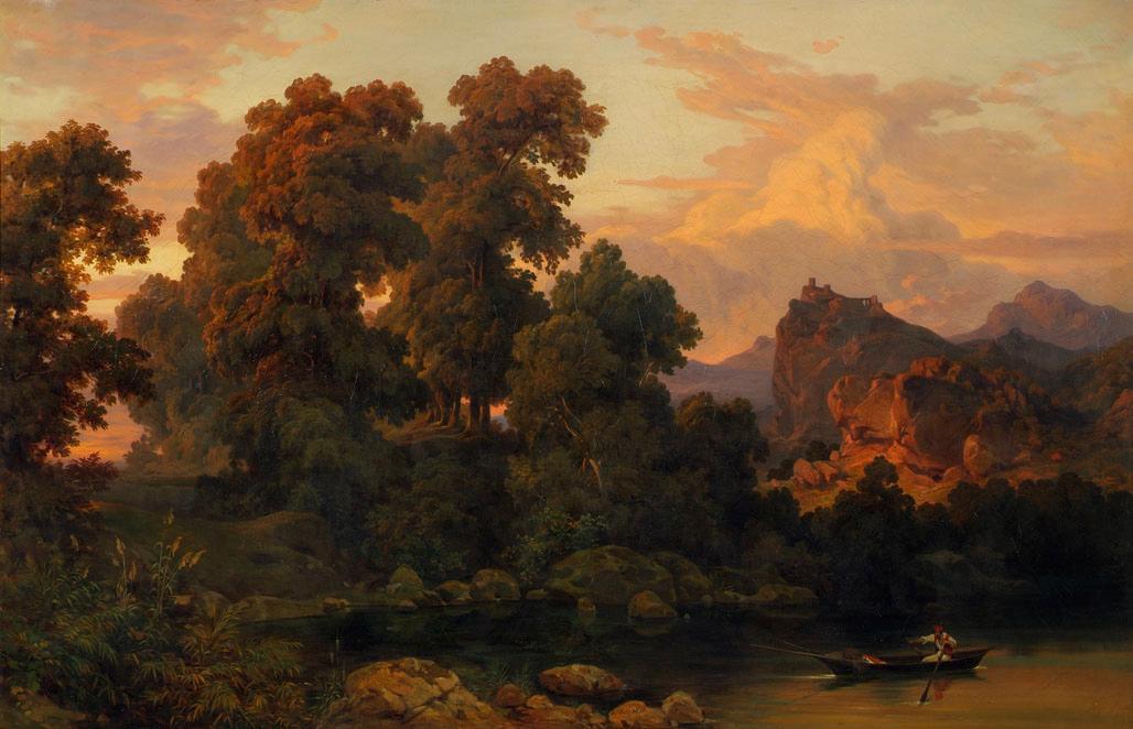 Italienische Landschaft von Salomon Corrodi