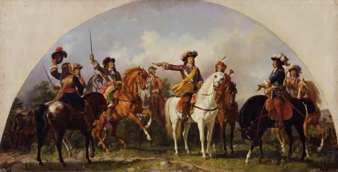 Die Schlacht bei St. Gotthard 1664 von Karl von Blaas