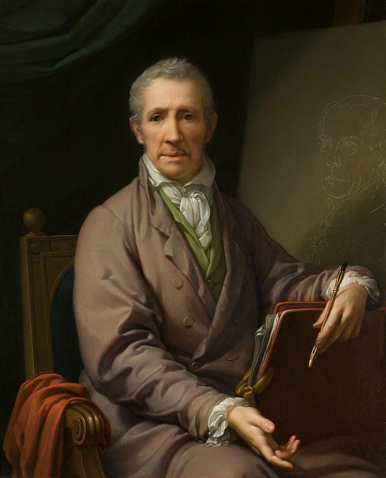 Selbstbildnis an der Staffelei von Johann Baptist Lampi d. Ä.