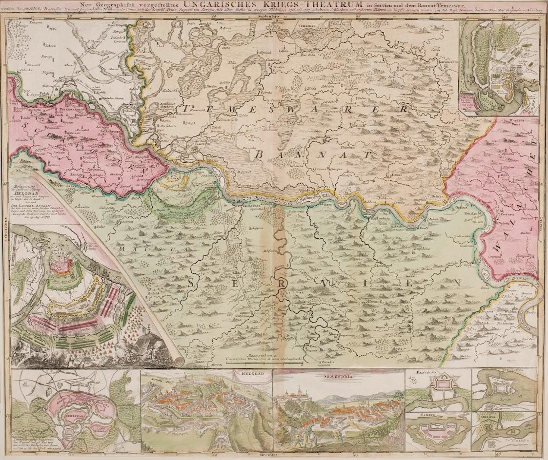 Ungarisches Kriegs-Theatrum von Johann Baptist Homann