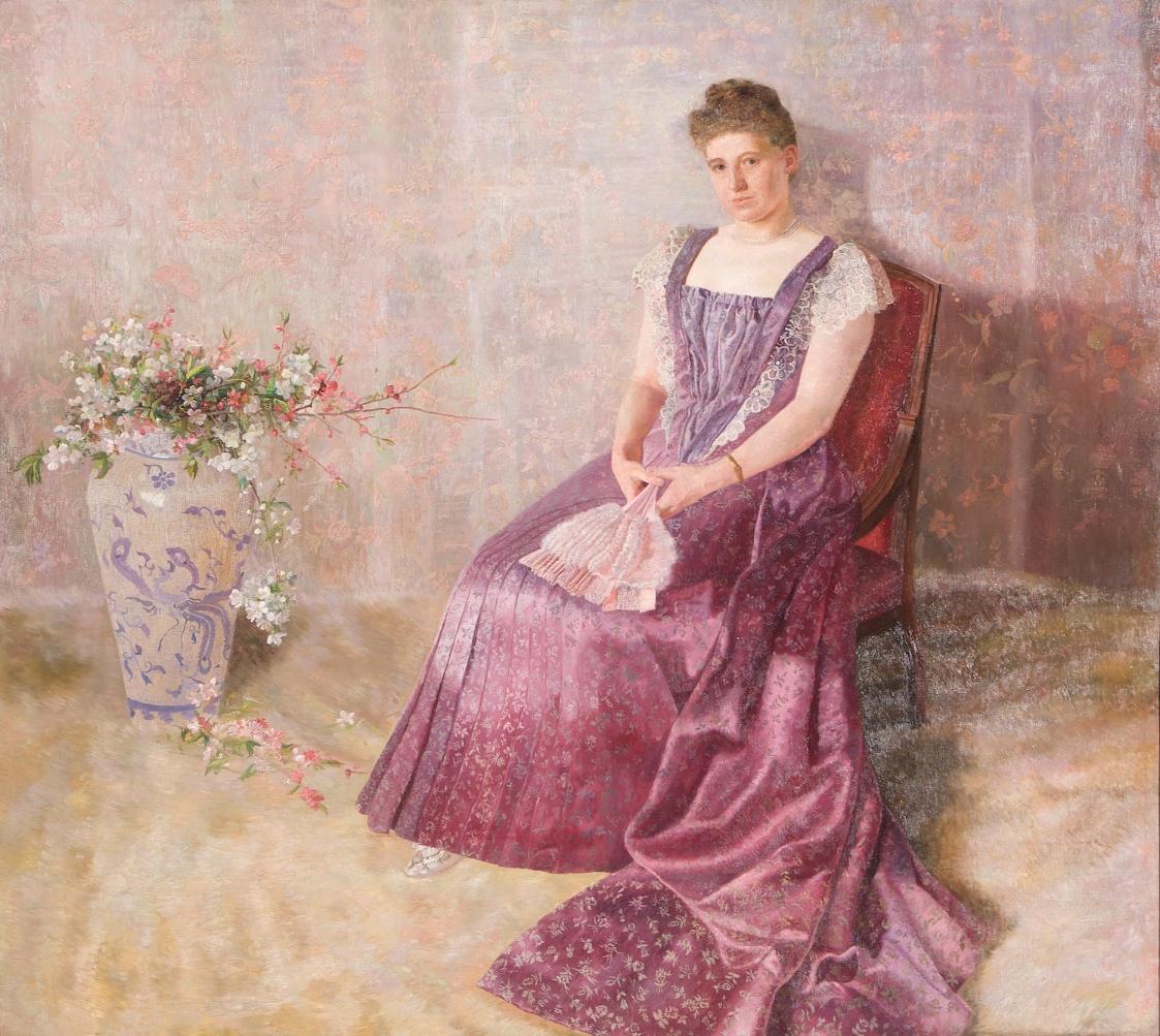 Das lila Staatskleid. Frau von Birkenreuth von Karl Mediz