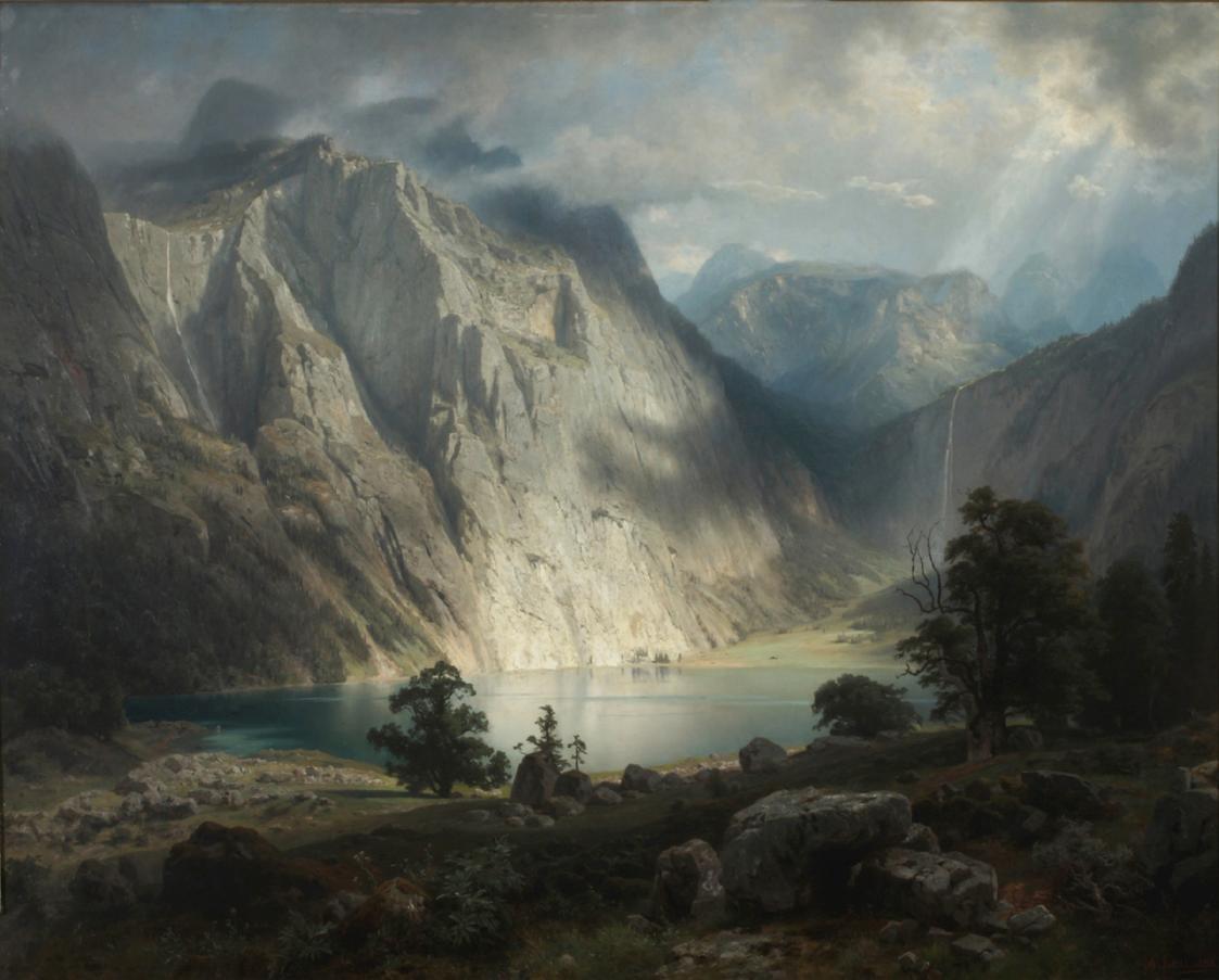 Obersee bei Berchtesgaden von August Wilhelm Leu