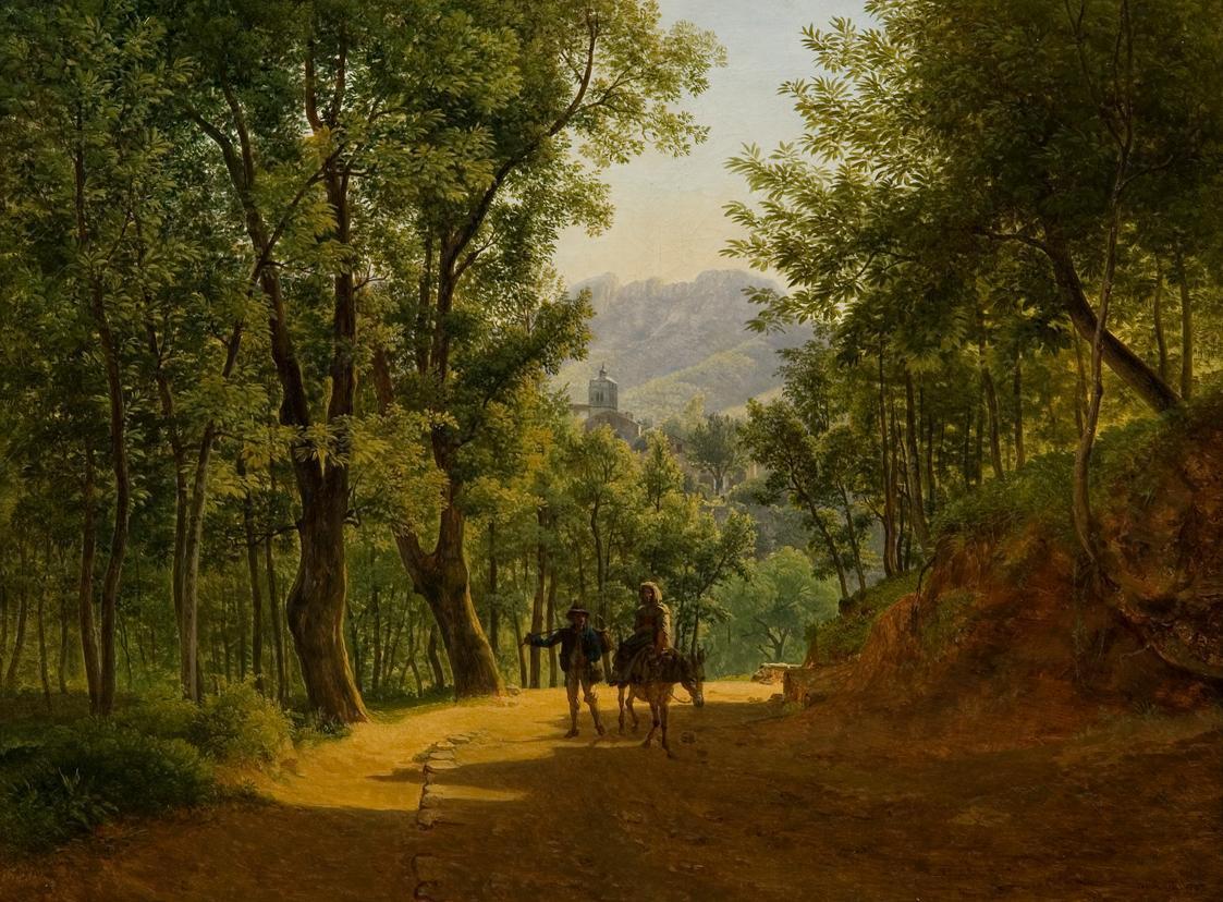 Italienische Landschaft von Joseph Rebell