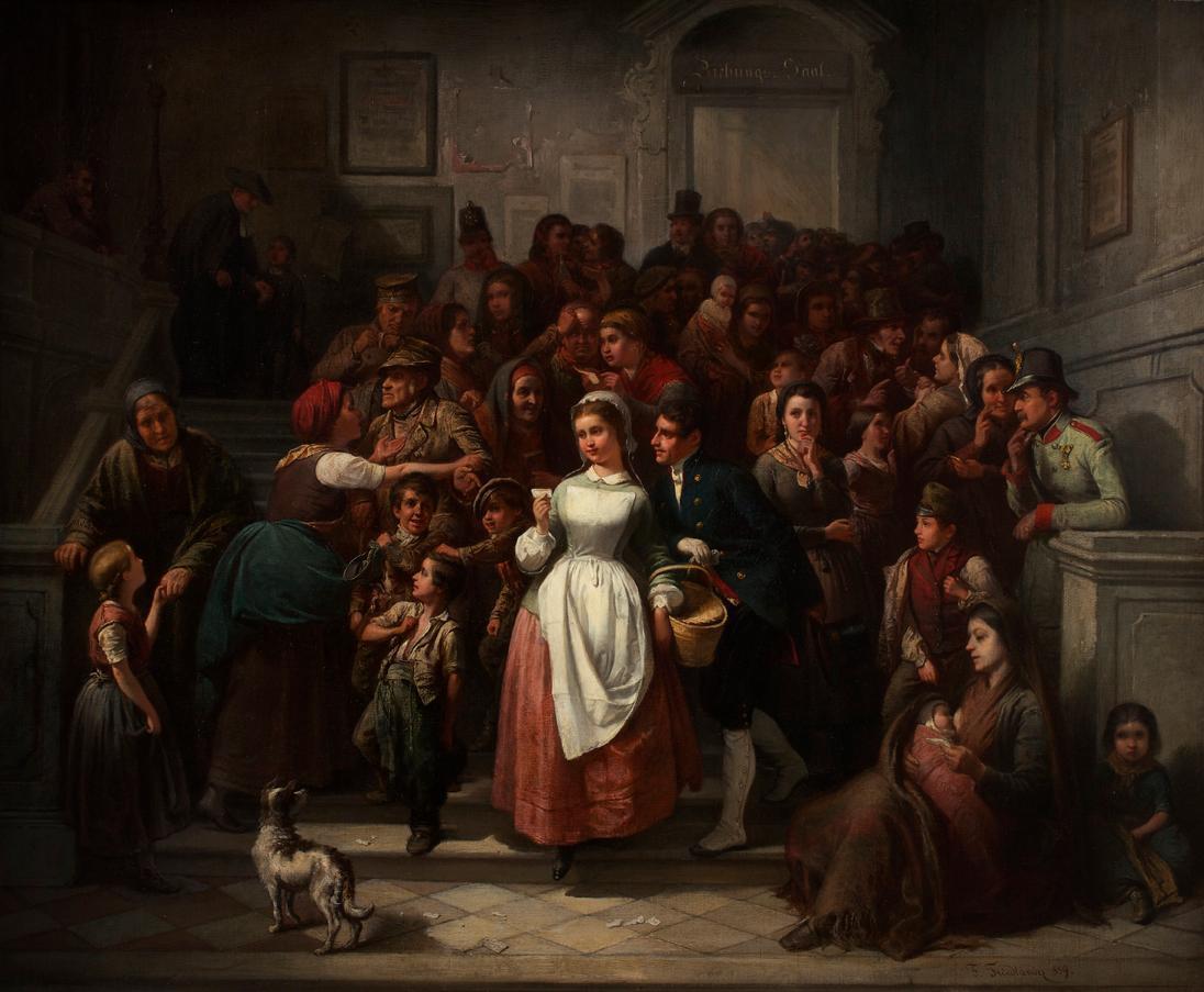 Nach der Lotterieziehung von Friedrich Friedländer Ritter von Malheim