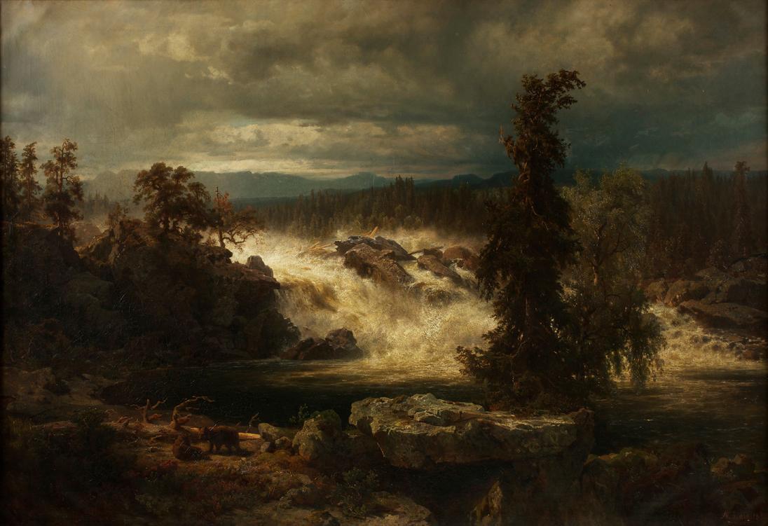 Die Labrofälle bei Kongsberg in Norwegen von August Wilhelm Leu