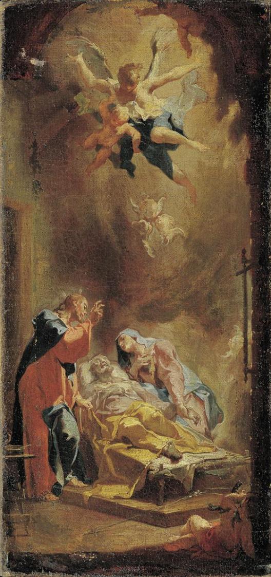 Der Tod des heiligen Joseph von Caspar Franz Sambach