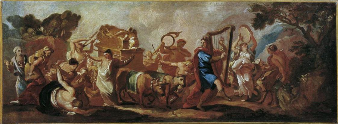 Die Überführung der Bundeslade durch den singenden und tanzenden David von Franz Carl Remp