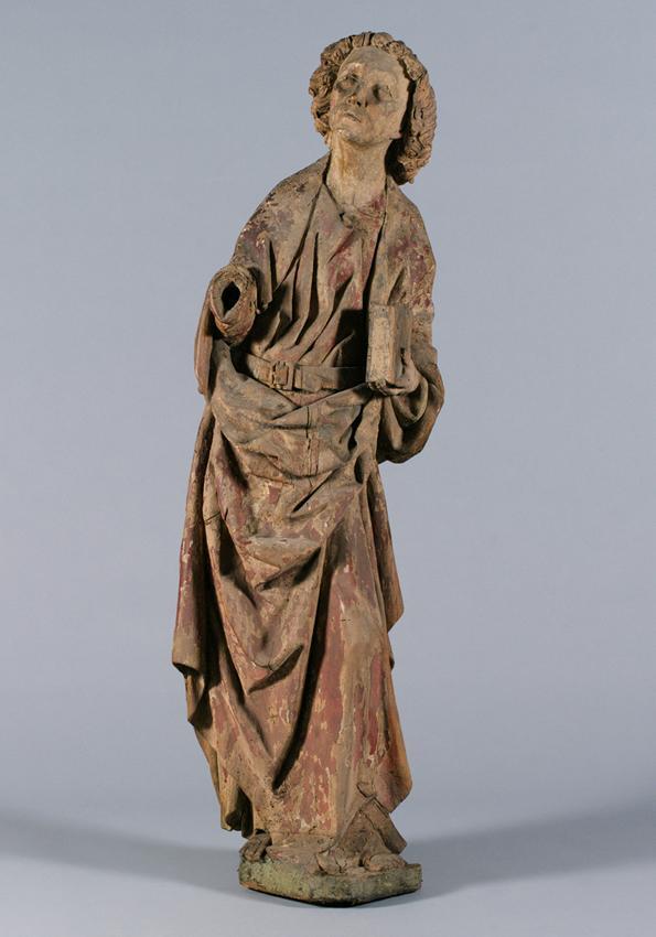 Hl. Johannes einer Kreuzigungsgruppe von Südweststeirischer Bildschnitzer