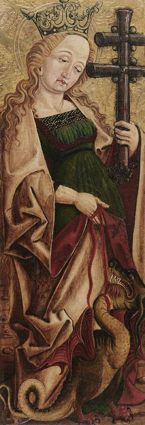 Hl. Margarete (Innenseite) und Hl. Panthaleon (Außenseite) von Friedrich Pacher
