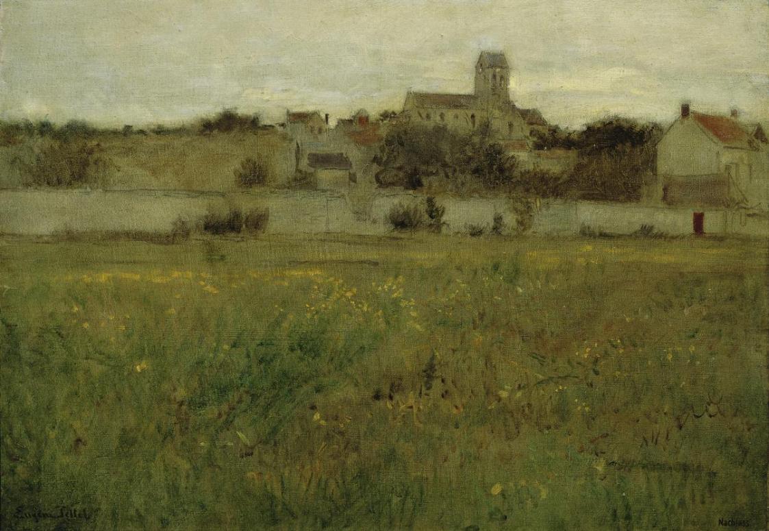 Ansicht von Auvers-sur-Oise von Eugen Jettel
