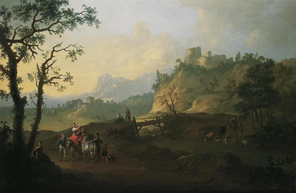 Italienische Landschaft von Franz de Paula Ferg