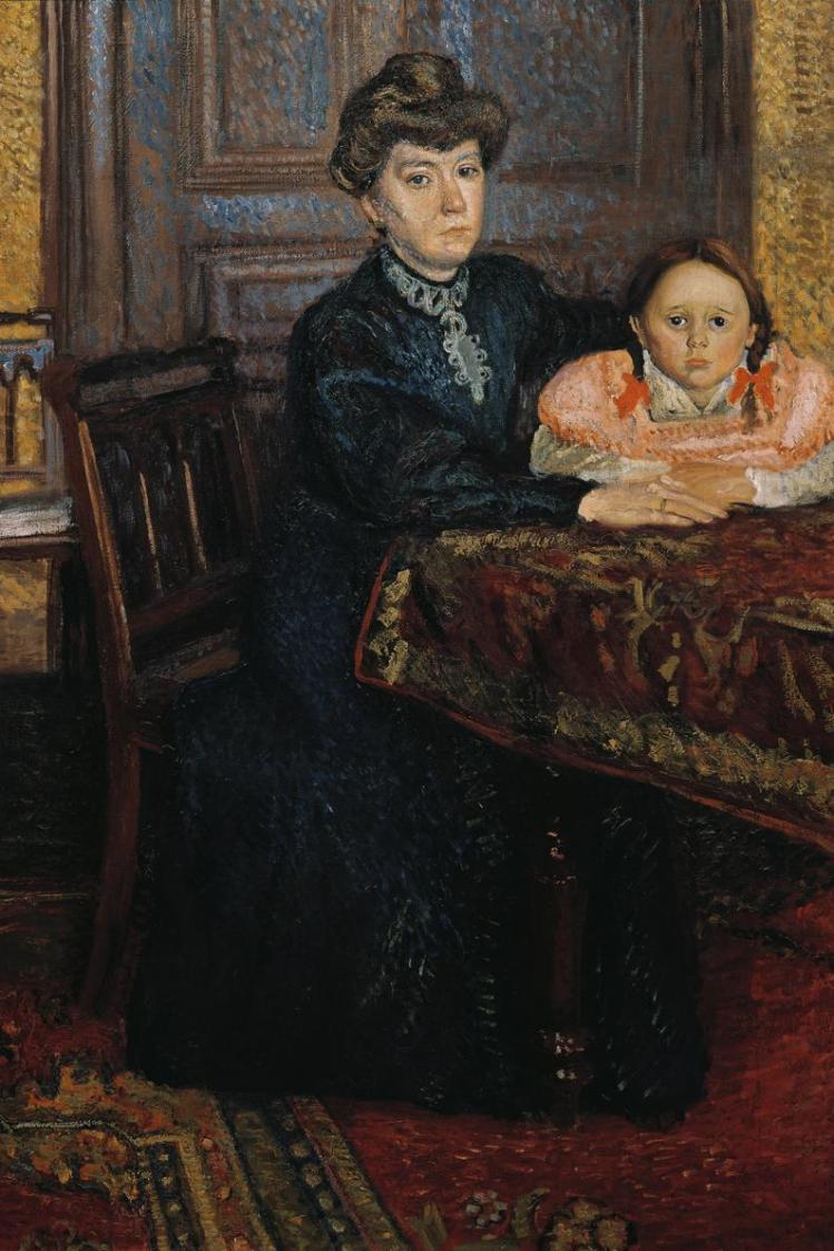 Frau mit Kind (Mathilde Schönberg mit Tochter Gertrud) von Richard Gerstl