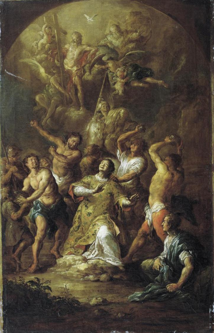 Steinigung des heiligen Stephanus von Franz Xaver Wagenschön