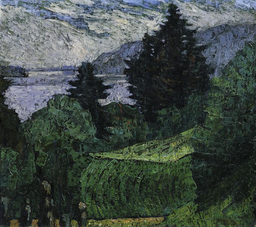 Ausblick am See von Ernst Riederer