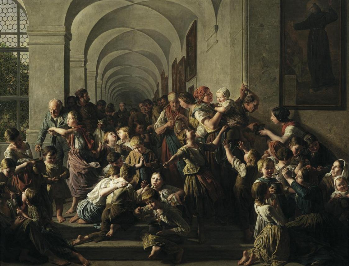 Die Klostersuppe von Ferdinand Georg Waldmüller