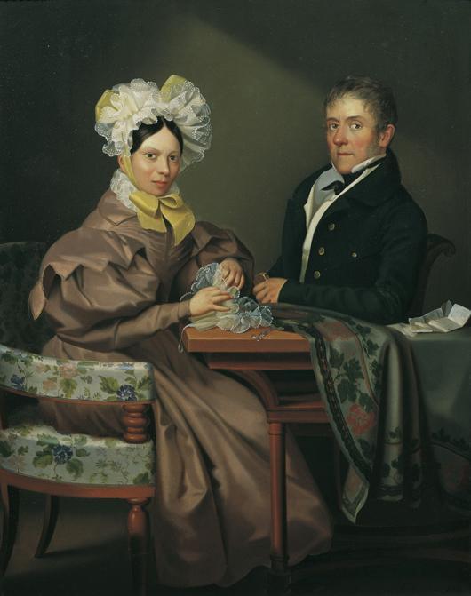 Porträt einer Dame und eines Herrn von Leopold Fertbauer