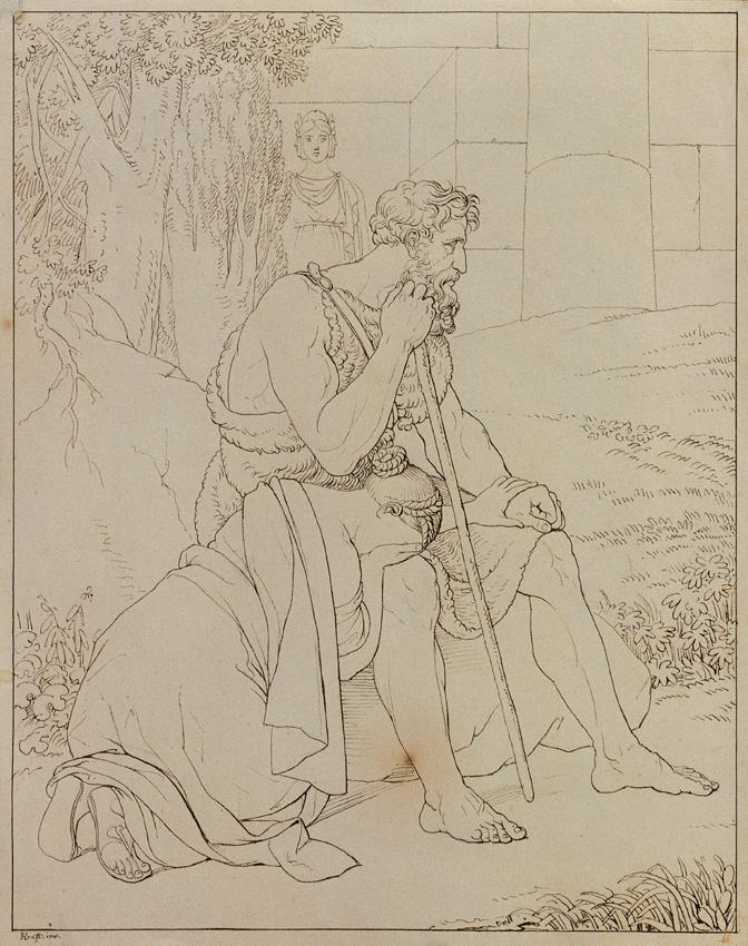 Oedipus und Antigone von Johann Peter Krafft