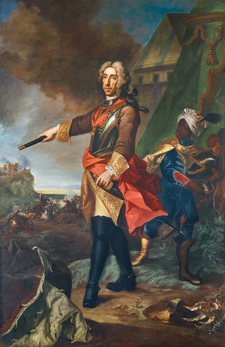 Prinz Eugen von Savoyen als Feldherr von Johann Gottfried Auerbach