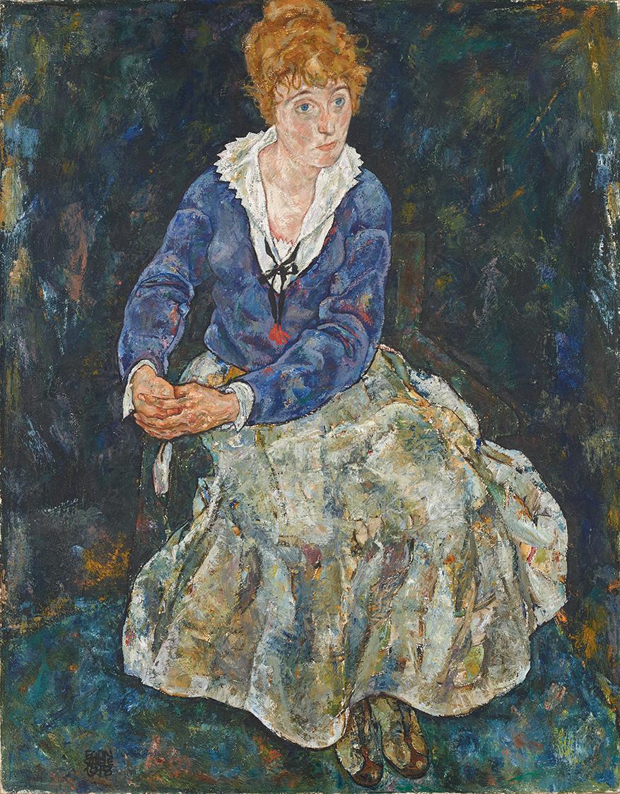 Bildnis der Frau des Künstlers, Edith Schiele von Egon Schiele